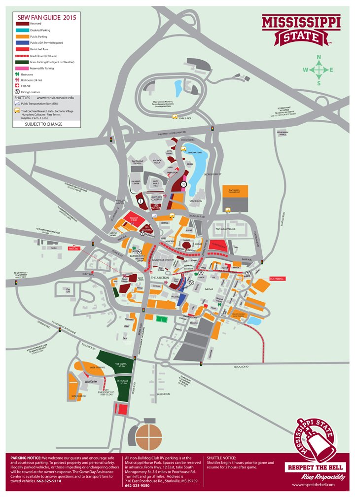 Parking Road Changes For Super Bulldog Weekend Mississippi