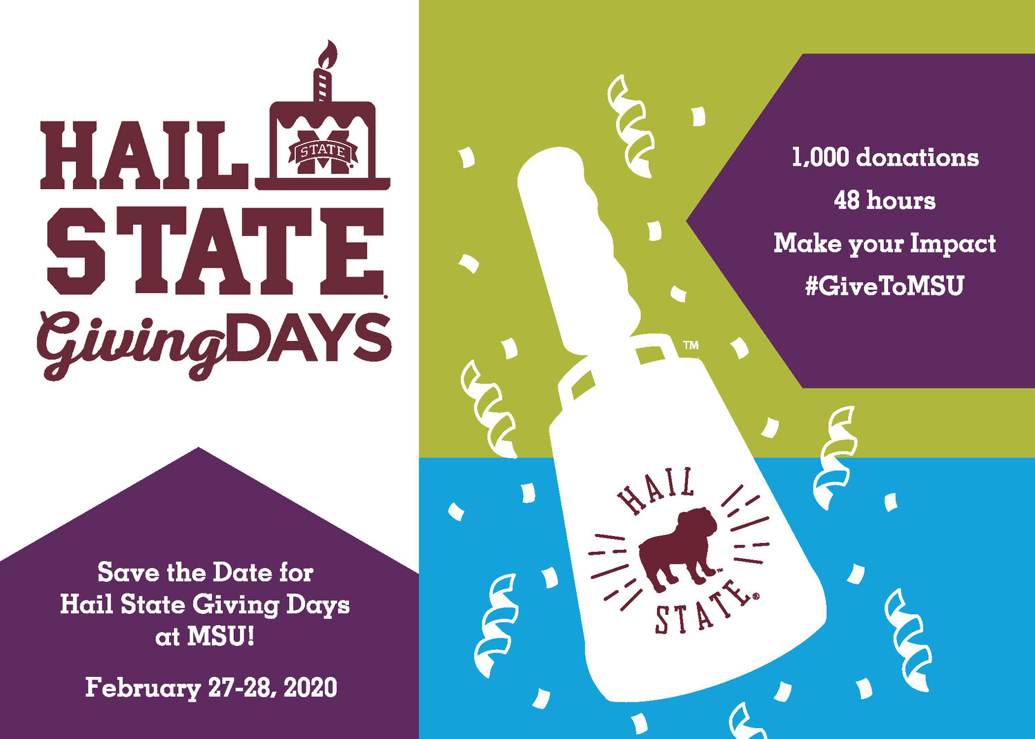 Promotional graphic for Hail State Giving Days