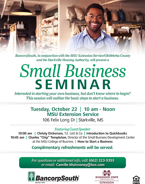 Flyer for a small business seminar