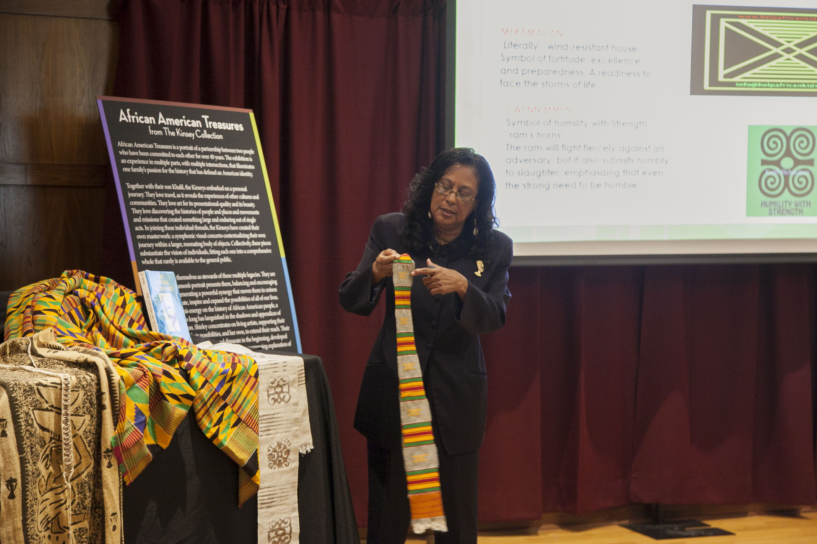 Shirley Hanshaw, MSU associate professor of English and African American Studies faculty member, led the Thursday [April 23] lecture that was part of the The Kinsey Collection lecture series at Mitchell Memorial Library.