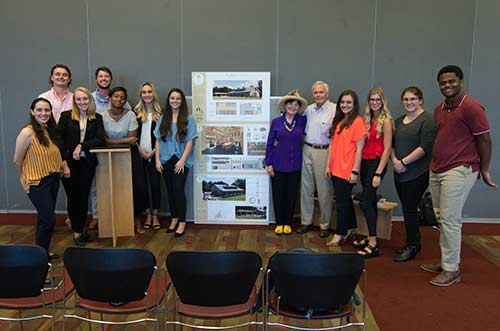 First-place winners from the annual Brasfield and Gorrie Student Design Competition at MSU