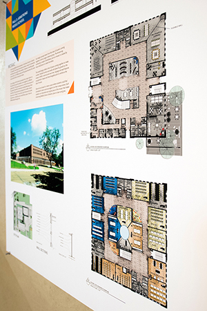 Students in Mississippi State University's College of Architecture, Art and Design recently participated in a design competition sponsored by Brasfield and Gorrie construction firm of Birmingham, Alabama. The competition sought proposals addressing innovative ways to redesign classrooms and other spaces at Armstrong Middle School, which will serve local eighth and ninth graders after completion of the Starkville Oktibbeha Consolidated School District Partnership School in 2019. (Photo by Beth Wynn)