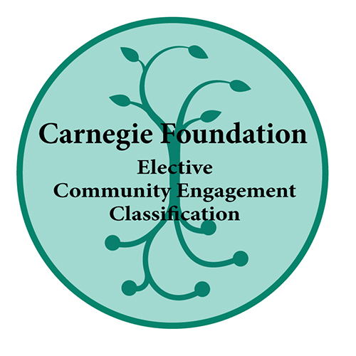 Carnegie seal logo in green with a tree
