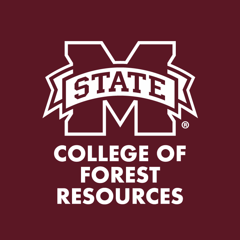 """M-State"" and ""College of Forest Resources"" in white letters on a maroon background"