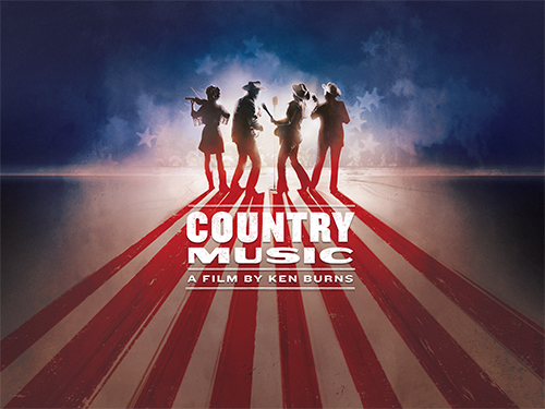"Promotional graphic for Ken Burns' miniseries ""Country Music"""