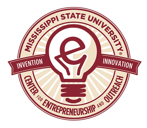 MSU E-Center logo featuring a light bulb design