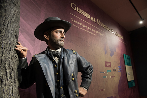 A statue of Ulysses S. Grant during his time as a Civil War General.