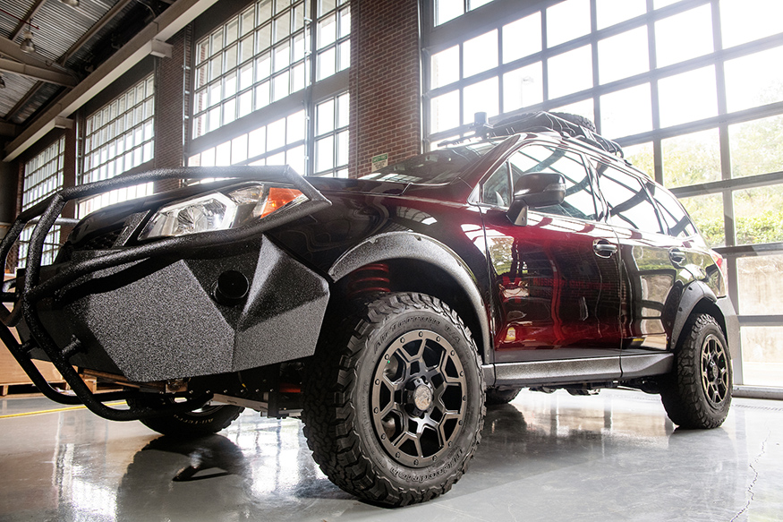 "The MSU ""Halo Project"" vehicle is an all-electric, autonomous SUV with off-road capabilities. (Photo by Beth Wynn)"