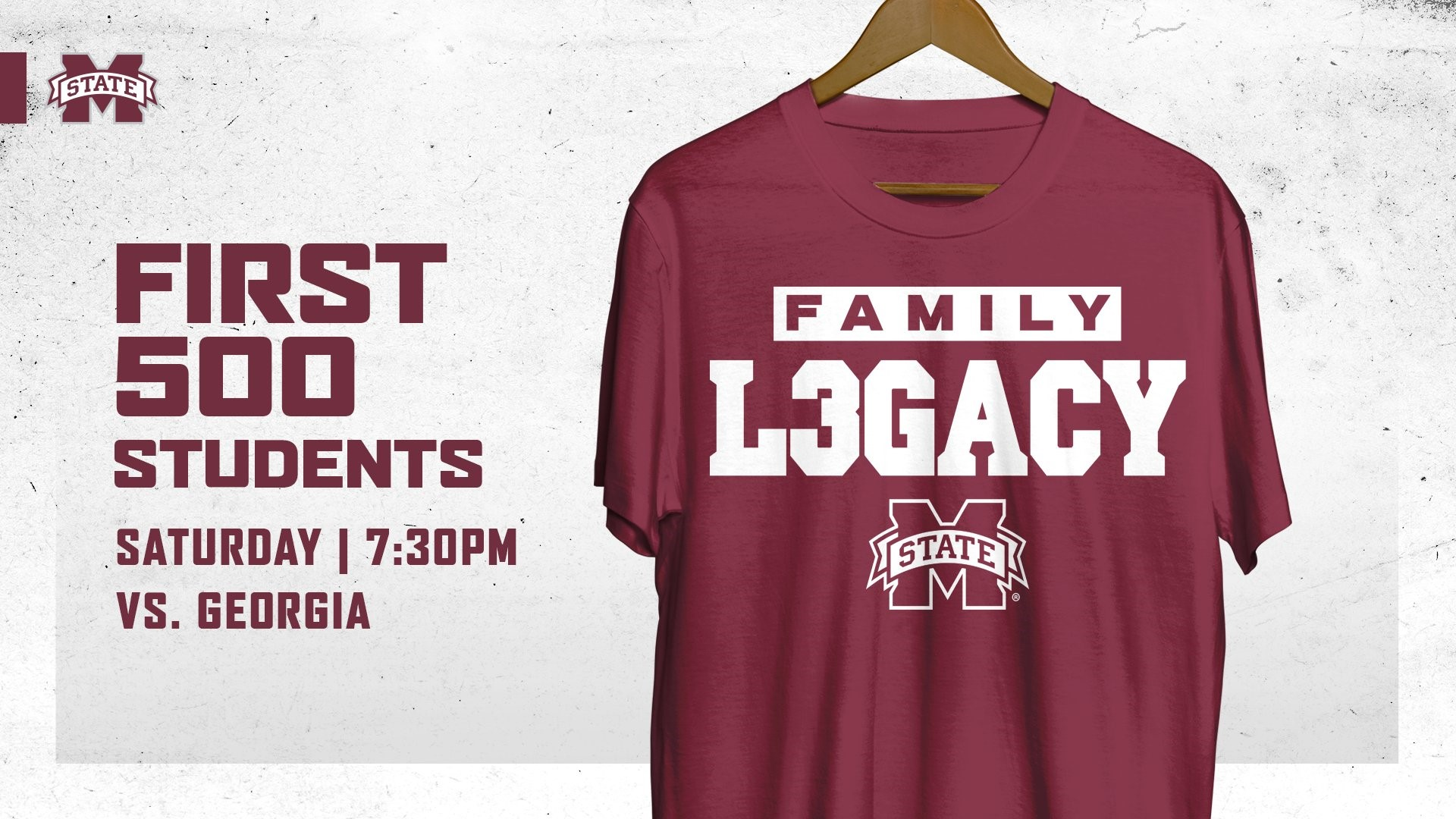Promotional graphic for MSU men's basketball T-shirt giveaway