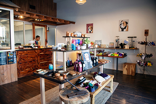 The Idea Shop in downtown Starkville is part of MSU's Center for Entrepreneurship and Outreach and includes the Turner A. Wingo Maker Studio and the MSU Retail Product Accelerator pictured with products on display..