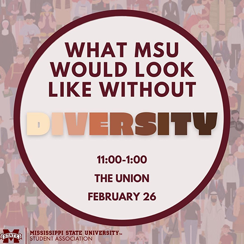What Would MSU Look Like Without Diversity graphic with images of people of various races and ethnicities in the background