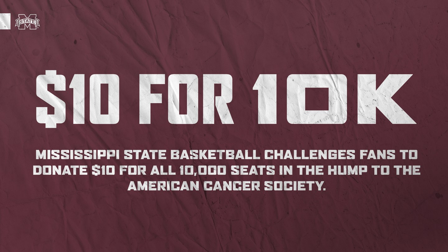 "Promotional graphic for MSU Basketball's ""$10 for 10K"" Campaign"