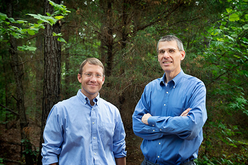 Mark Hersey and Stephen Brain, associate professors in Mississippi State's Department of History, are the new editors of the journal, Environmental History. (Photo by Megan Bean)