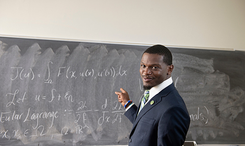Belzoni native Chartese Jones is an MSU mathematics doctoral student studying numerical partial differential equations. Jones will travel to Romania this year as part of the Erasmus+ program to study with some of the world's best mathematics scholars. (Photo by Megan Bean)