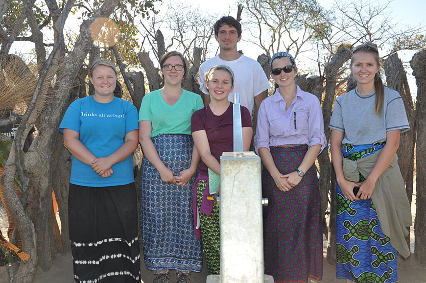 The MSU Engineers Without Borders student chapter will use a recent $8,000 grant from Penetron International to continue its clean, sustainable water initiative in rural Zambia. Currently involved on the project are (l-r) Erin Wynn, Emily Farrar, Laura Wilson, Phillip Keck, Heather Hart and Sally White.