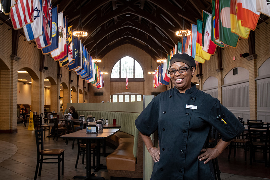 Annie Doss, pictured inside MSU's Perry Cafeteria.