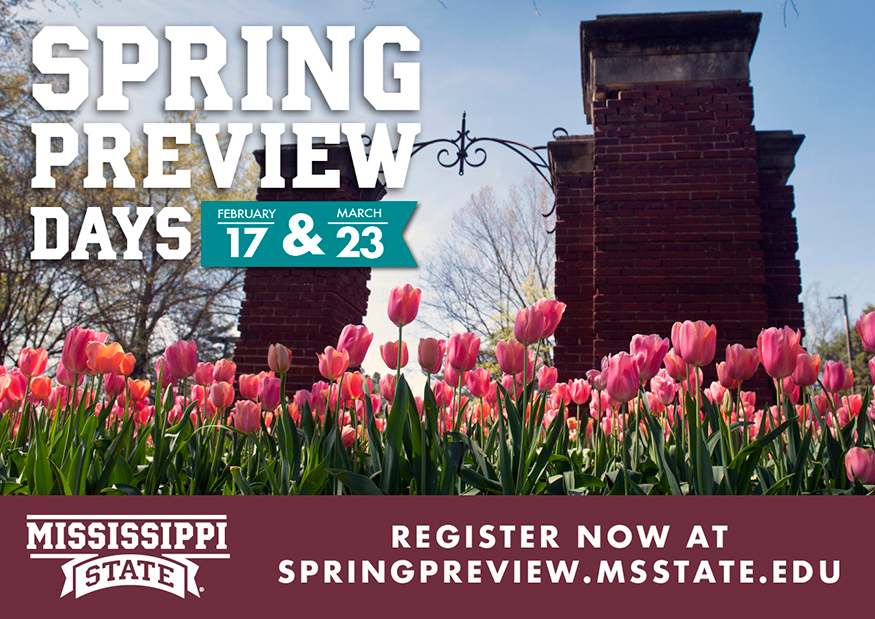 Promotional graphic for MSU's Spring Preview Days