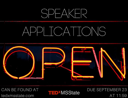 TEDxMSState accepting 2020 speaker applications