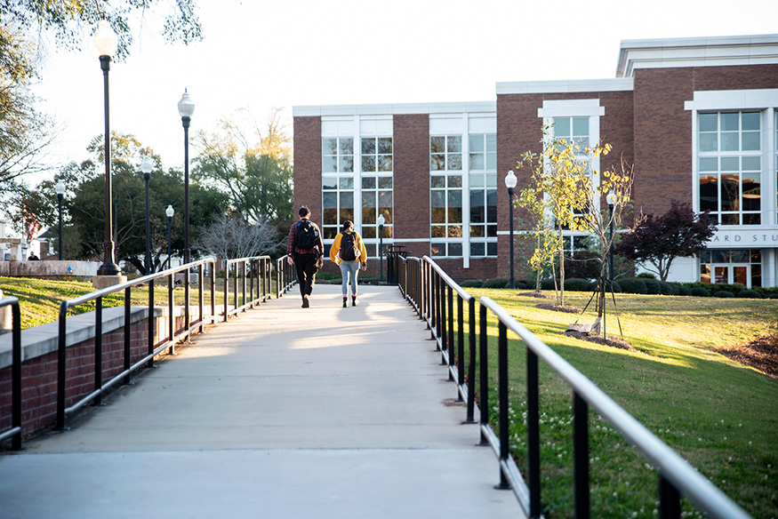 Students walk across the MSU campus