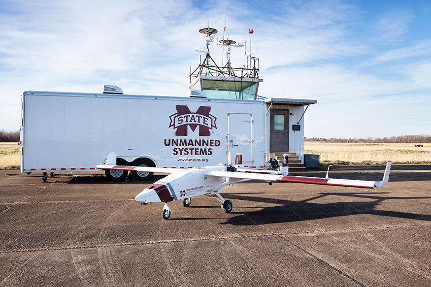 The TigerShark XP aircraft recently acquired by Raspet Flight Research Laboratory will increase the center's research capabilities and ability to assist Mississippians in disaster relief scenarios. (Photo by Beth Wynn)