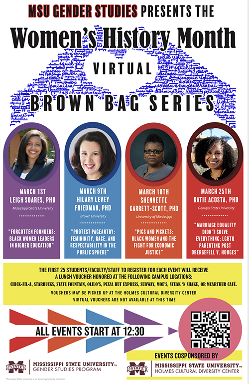 Women's History Month Virtual Brown Bag Series flyer