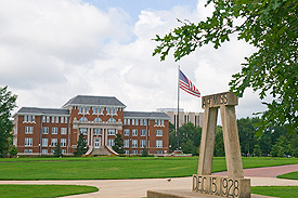 Photo of buildings on the Drill Field.